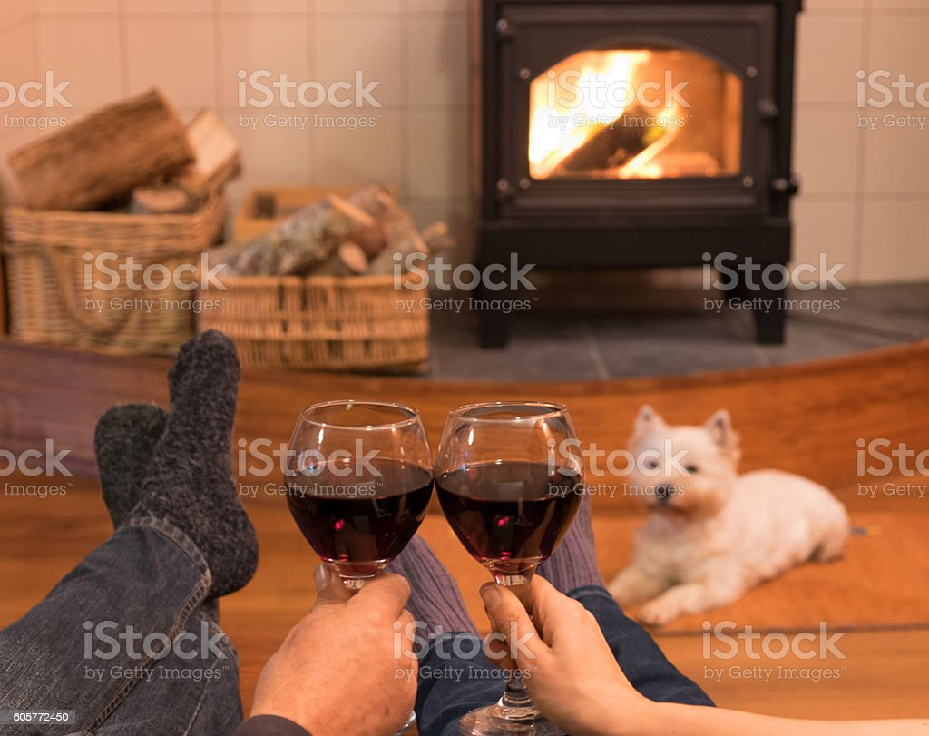 Cosy and companiable stock photo