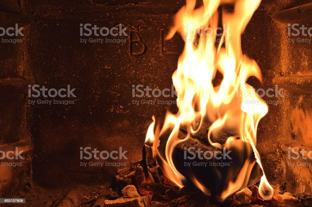 A cosy fire stock photo