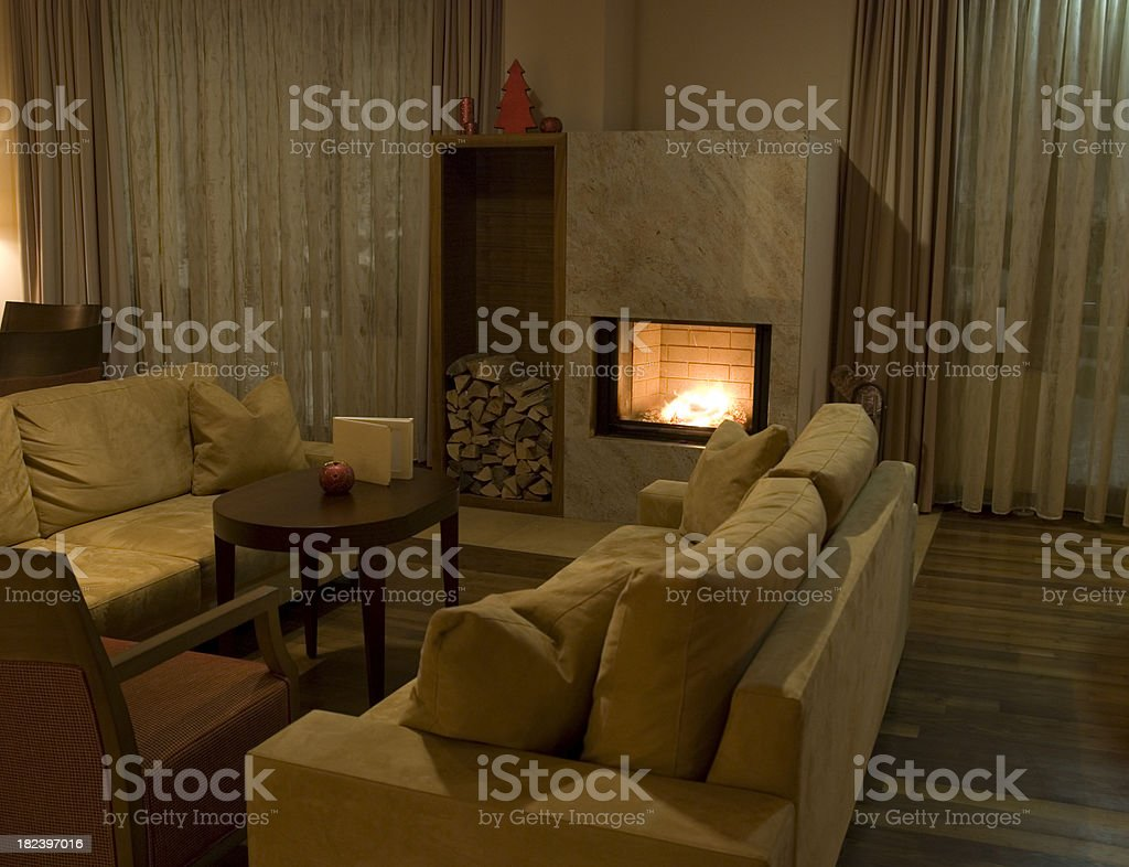 cosy fireplace royalty-free stock photo