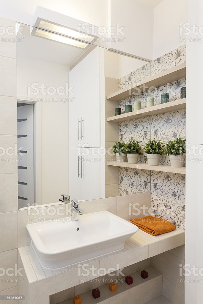 Cosy flat - vessel sink royalty-free stock photo