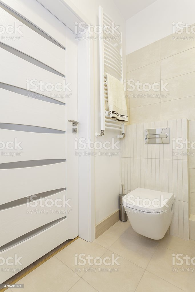 Cosy flat - wc royalty-free stock photo