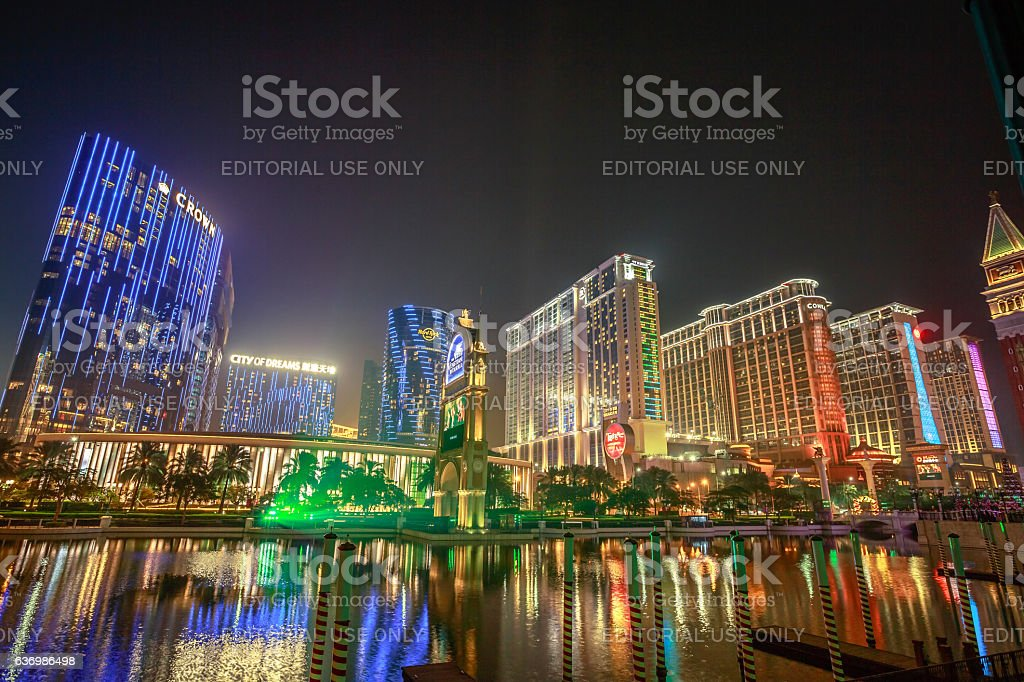 Cotai Strip Macau stock photo