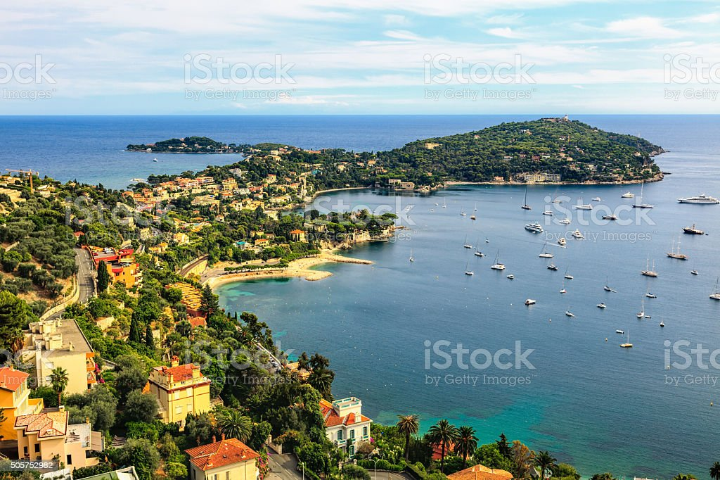 Cote d'Azur by Nice, France stock photo