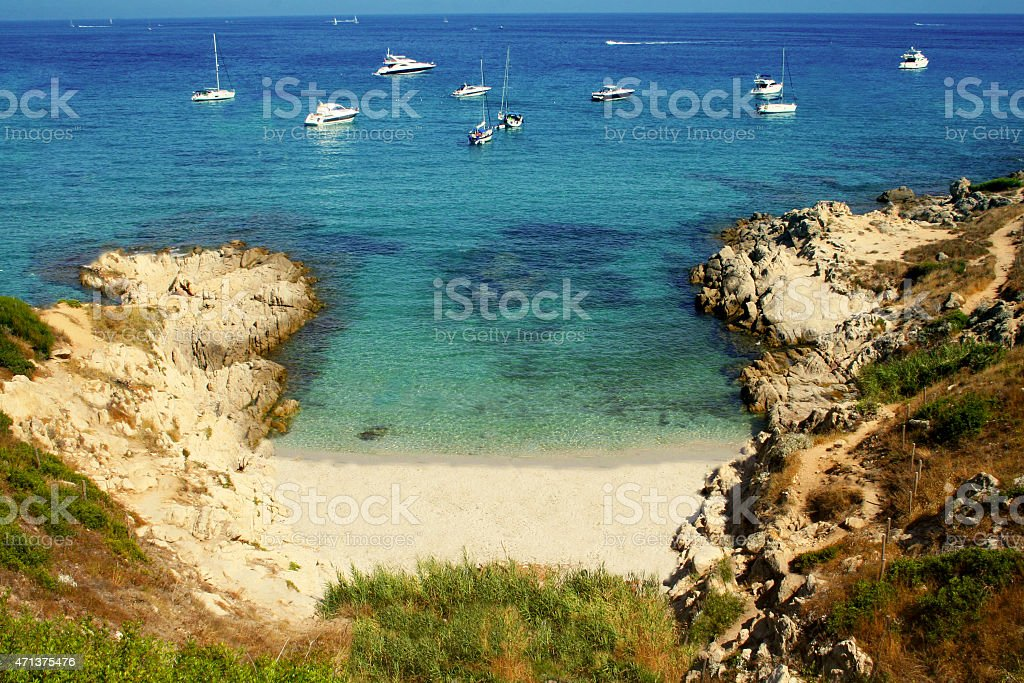 Cote d'Azur in Southern France stock photo