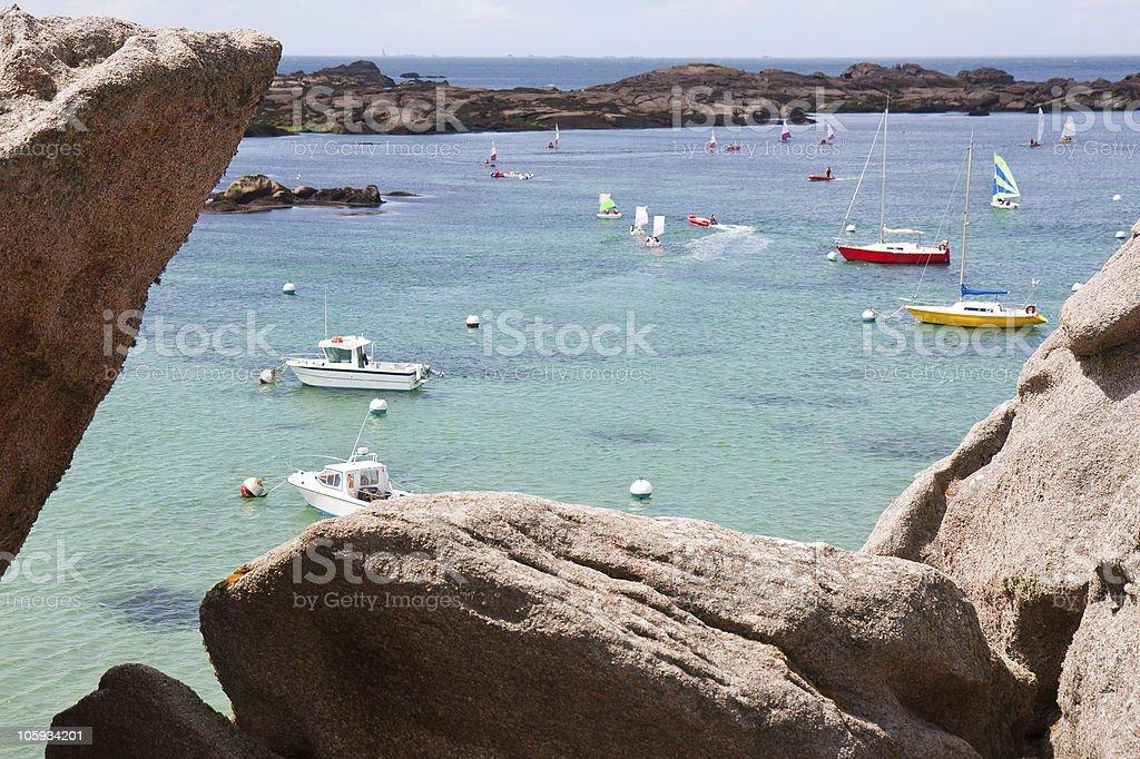 Cote de Granite Rose, Bretagne, France stock photo
