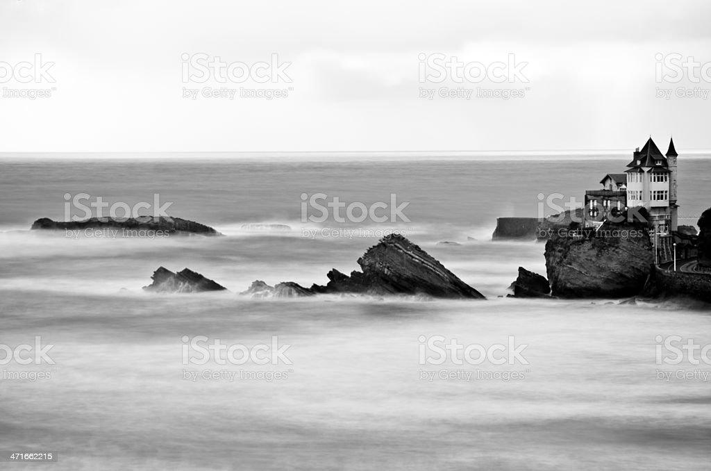 Cote des Basques stock photo