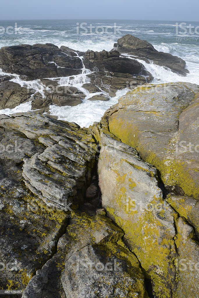 Cote Sauvage, Brittany, France stock photo