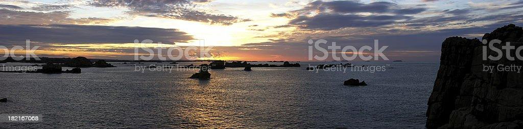 Cotes Du Nord Sunset royalty-free stock photo
