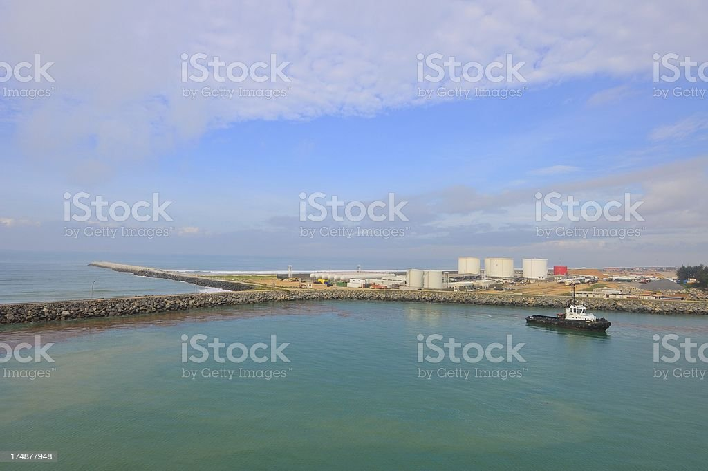 Cotonou Harbor Oil Tank Farm royalty-free stock photo