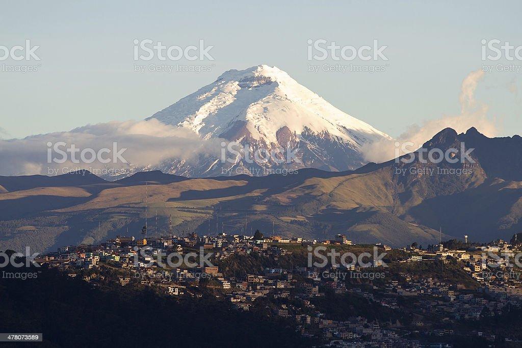 Cotopaxi volcano stock photo