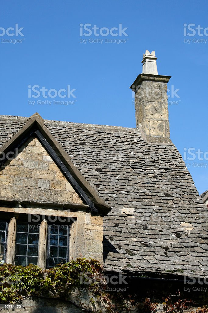 Cotswold cottage detail stock photo