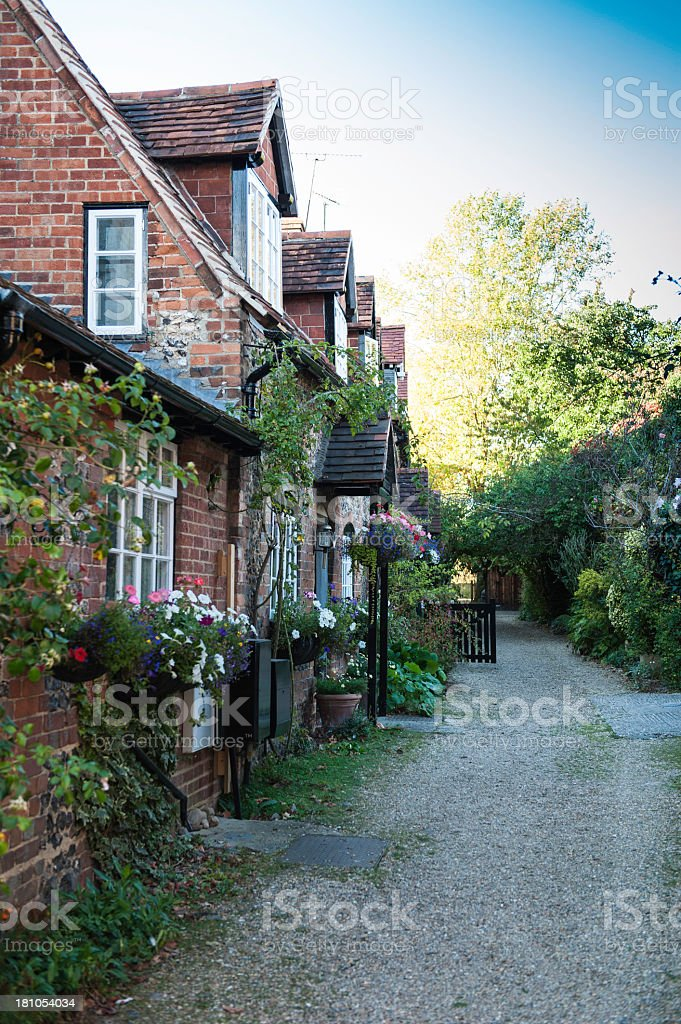 Cotswold cottages in Oxfordshire stock photo