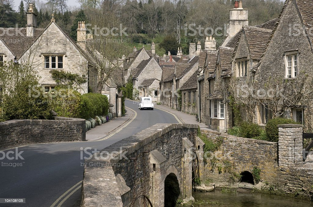 Cotswold hamlet of Castle Combe royalty-free stock photo
