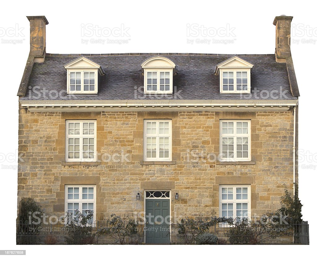 Cotswold house, cut-out stock photo