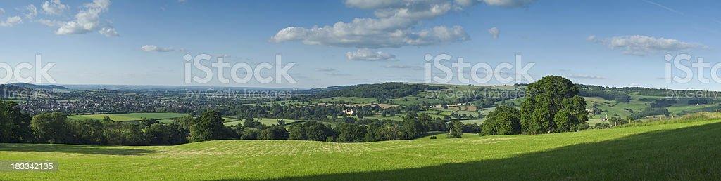 Cotswold panorama stock photo