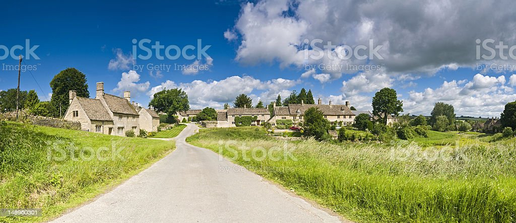 Cotswold picturesque village UK royalty-free stock photo