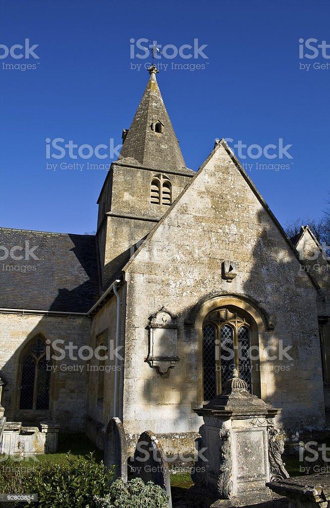 Cotswold Stone Church stock photo