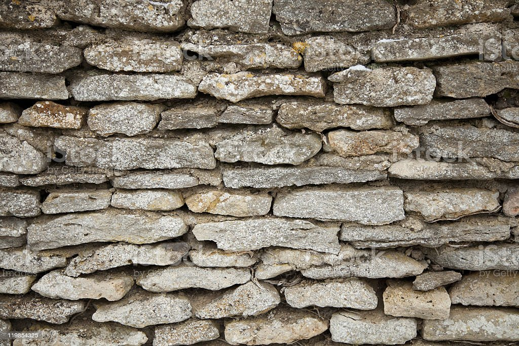 Cotswold stone wall stock photo