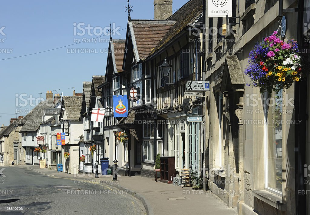 Cotswold Street, Winchcombe stock photo