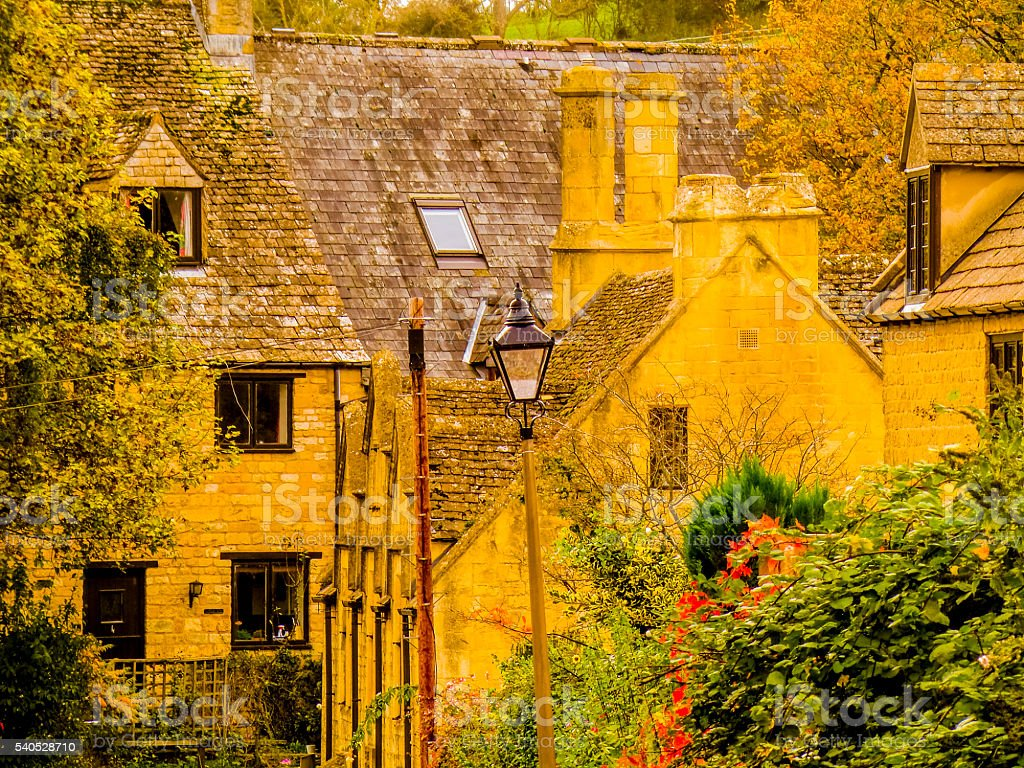 cotswold traditional village england uk stock photo