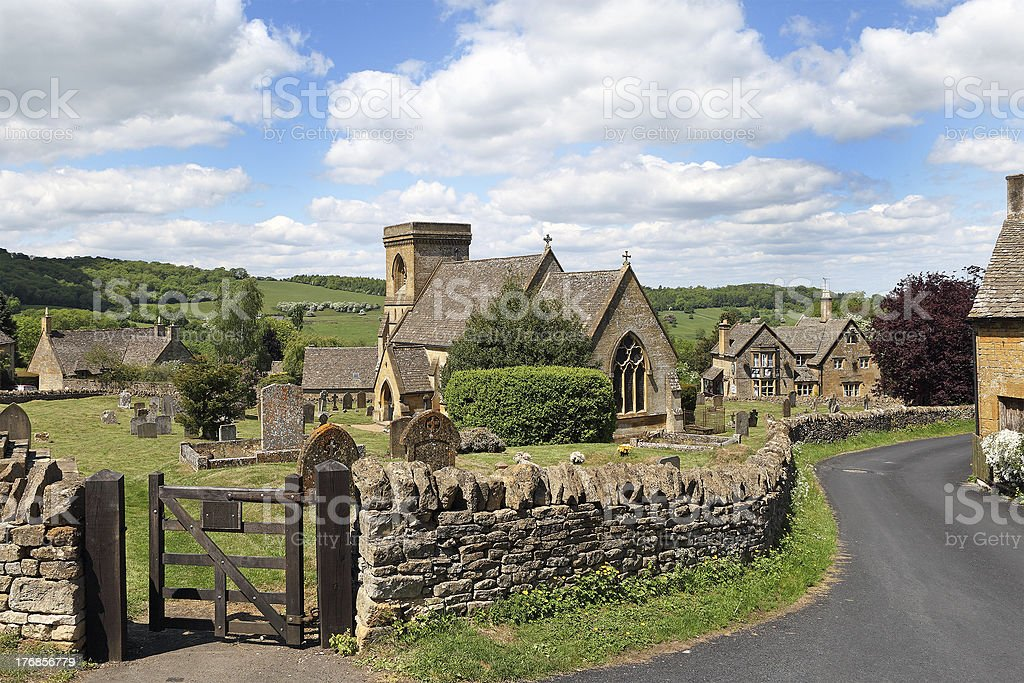 Cotswold village of Snowshill, England stock photo