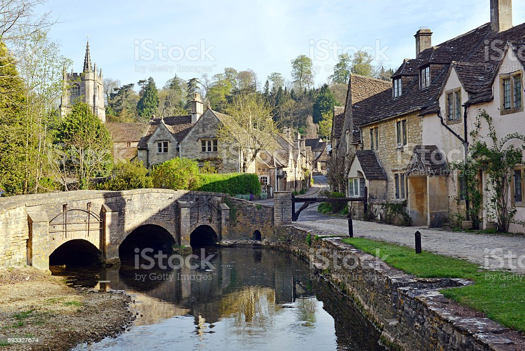 Cotswold village stock photo