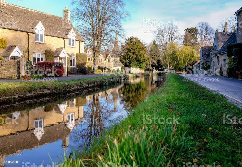 Cotswold Village stock photo
