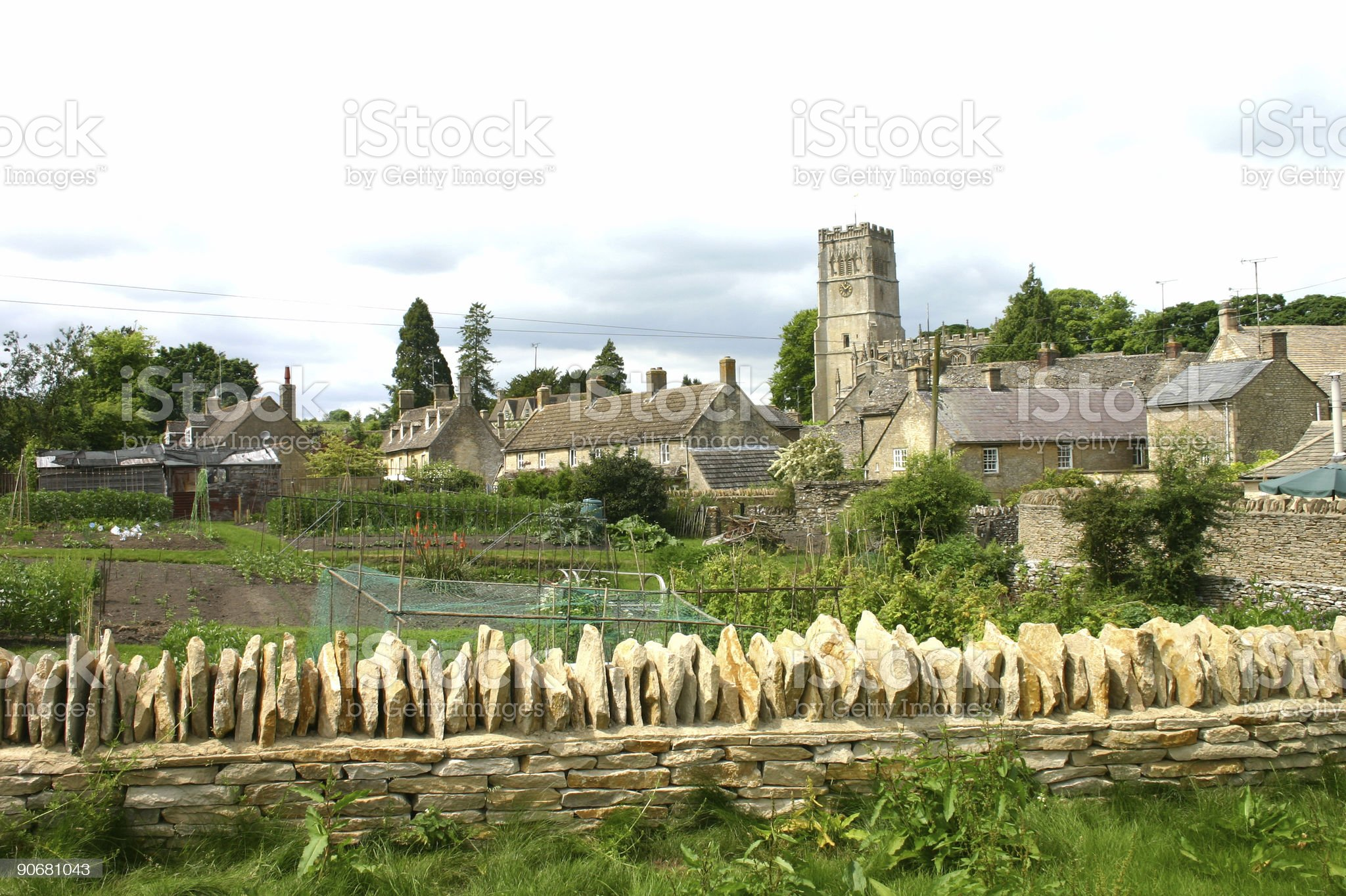 Cotswold village royalty-free stock photo