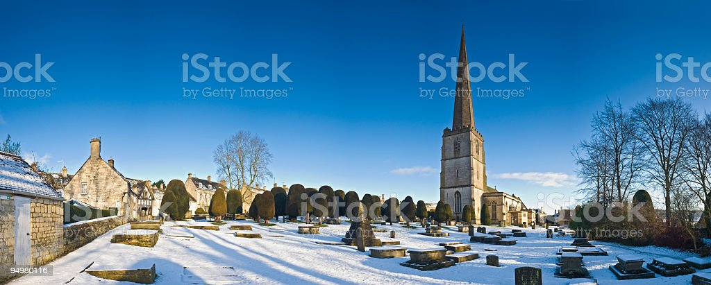 Cotswold winter villages royalty-free stock photo
