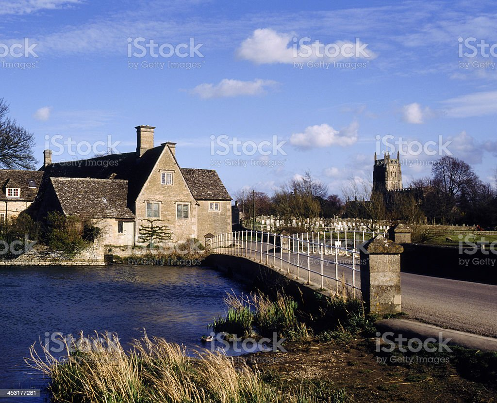 UK, Cotswolds, Fairford stock photo