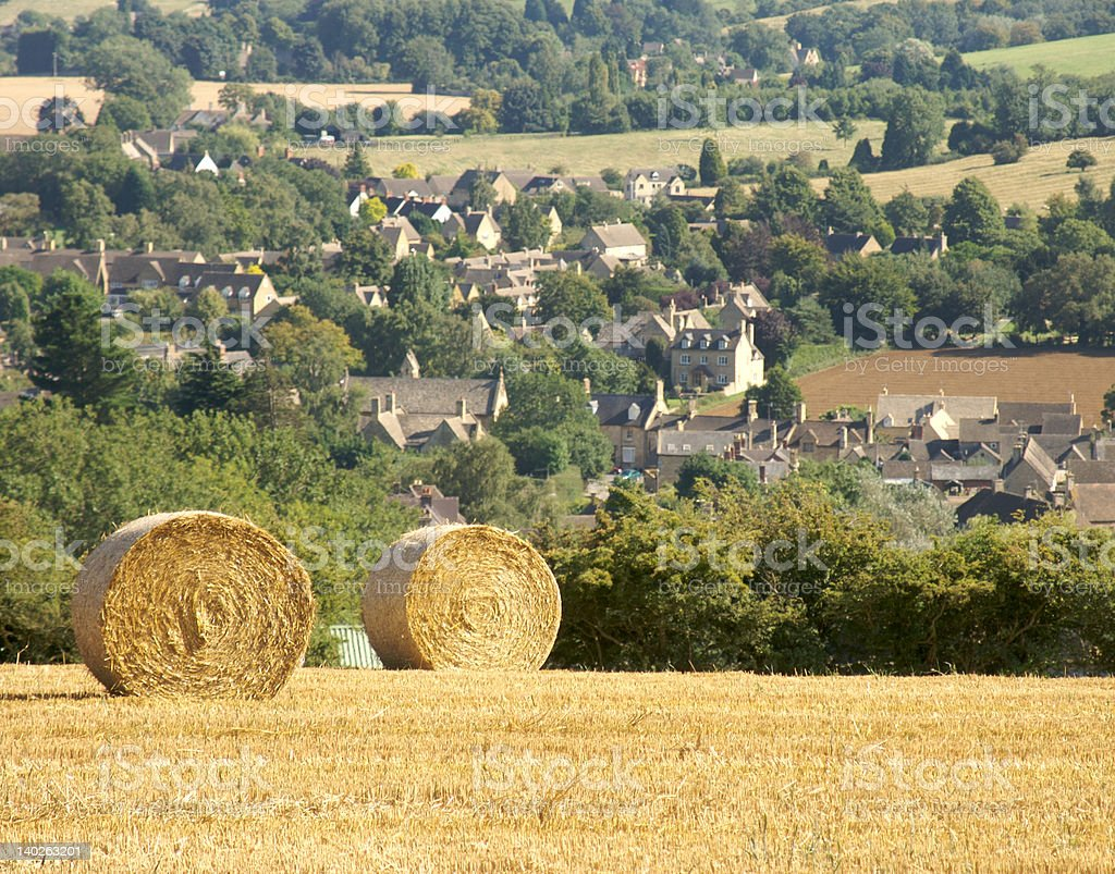 cotswolds harvest stock photo