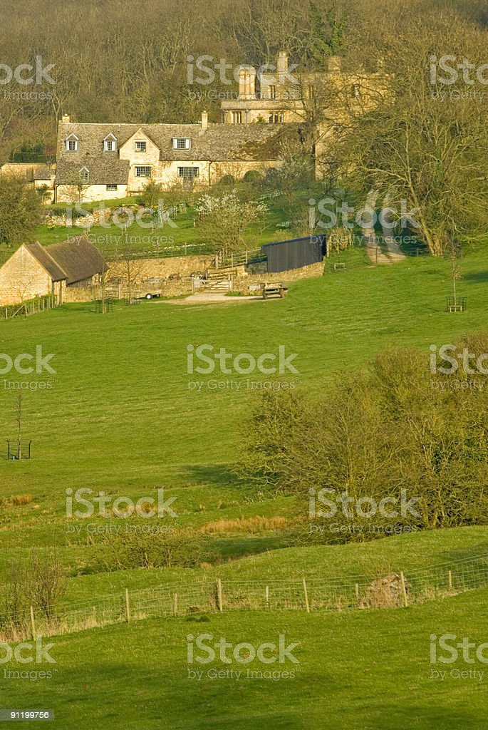 cotswolds landscape royalty-free stock photo