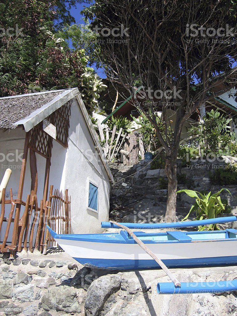 cottage and banca royalty-free stock photo