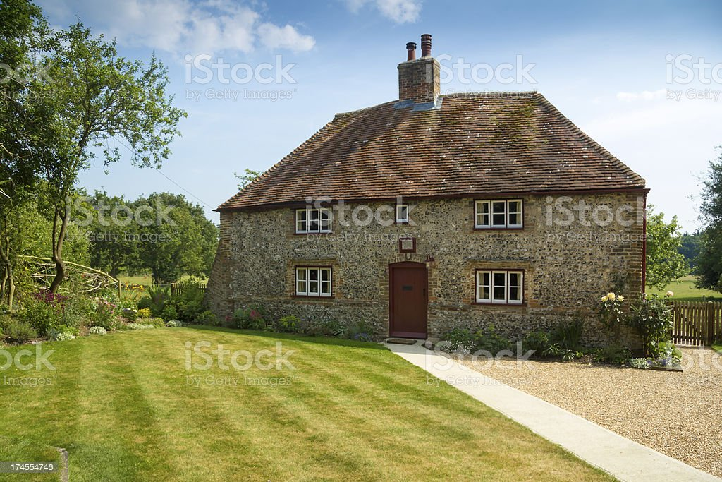 Cottage and garden stock photo