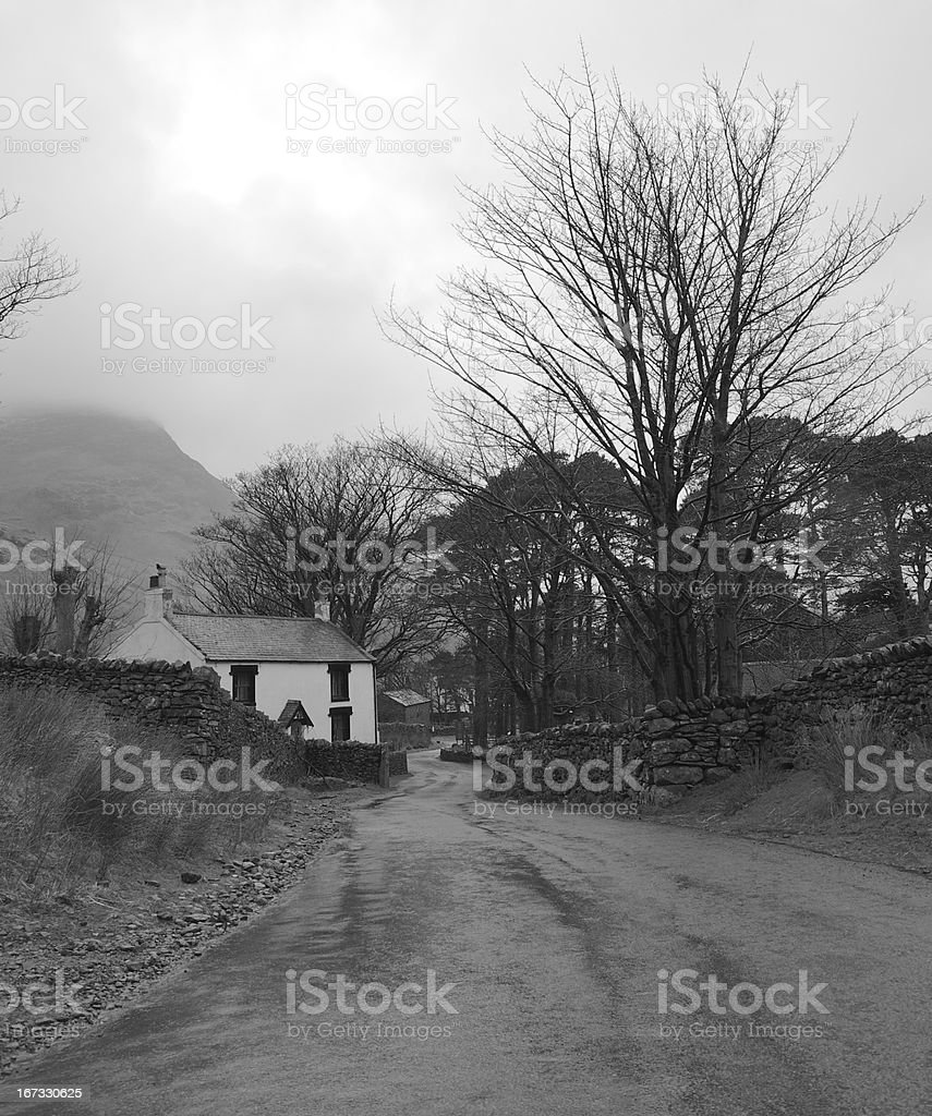 Cottage at the lakes royalty-free stock photo