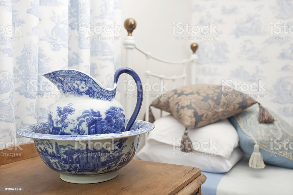 Cottage Bedroom stock photo