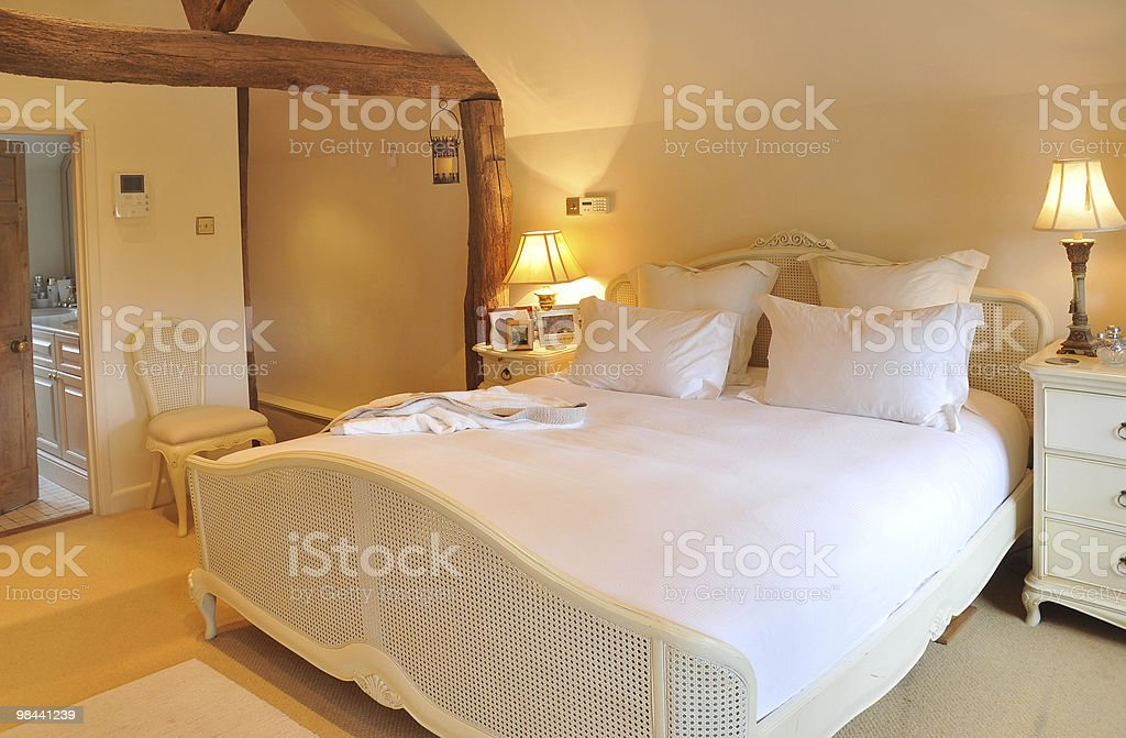 Cottage Bedroom royalty-free stock photo