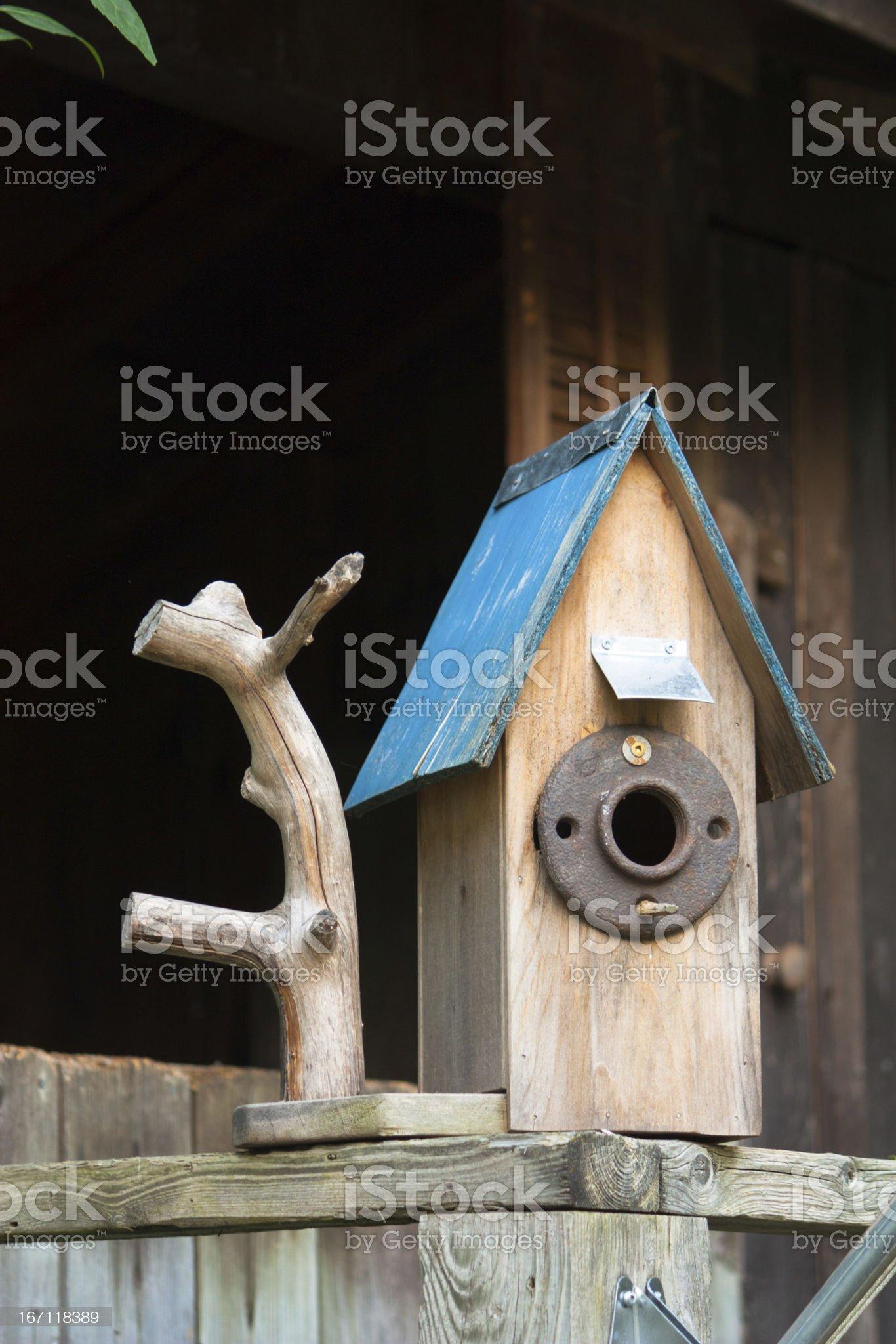 Cottage Birdhouse royalty-free stock photo