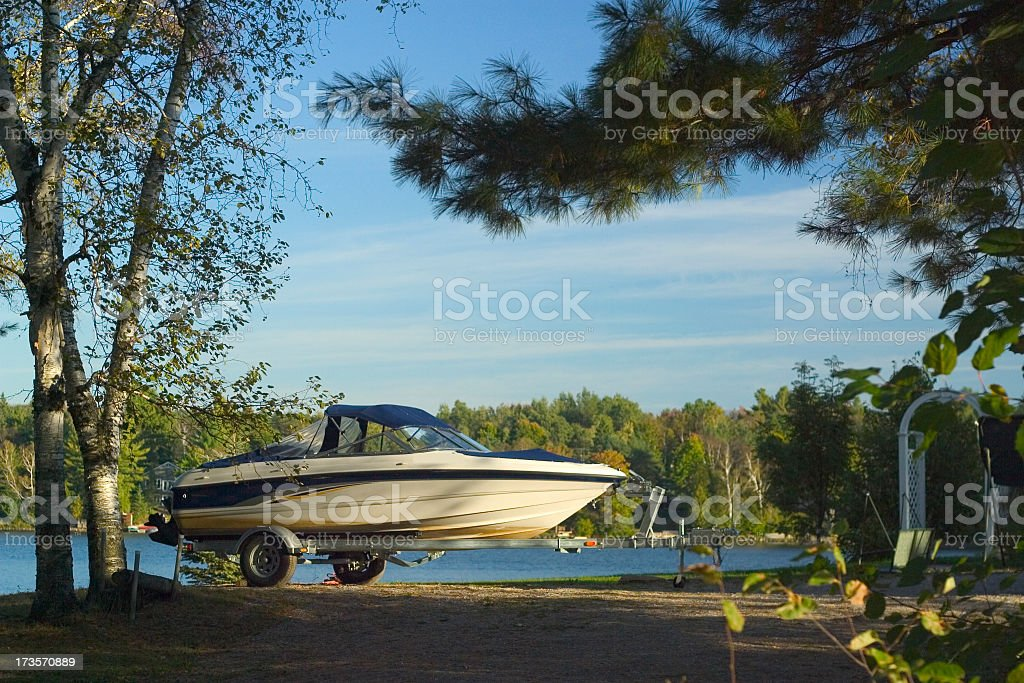 Cottage Boat royalty-free stock photo