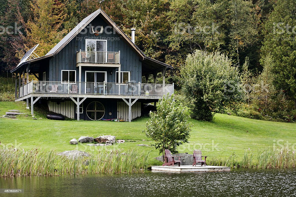 Cottage by the Lake stock photo