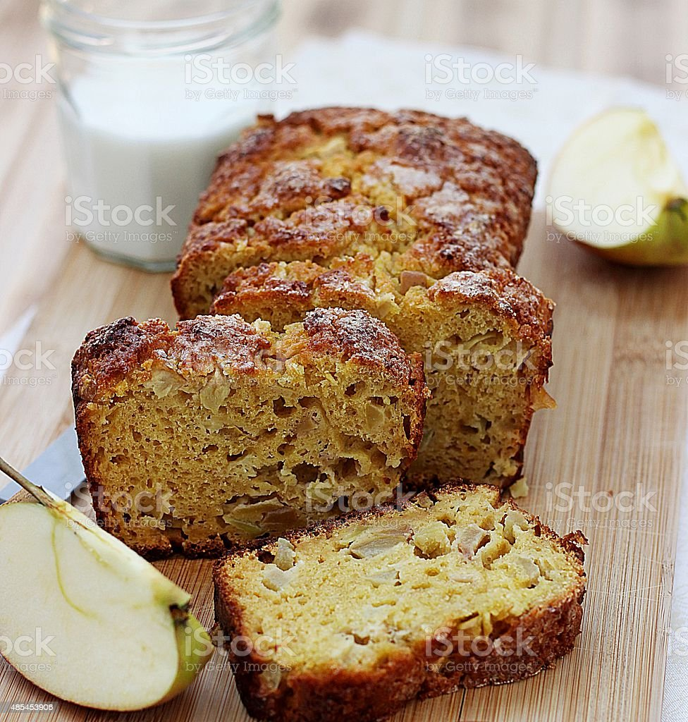 cottage cheese and apple cake stock photo