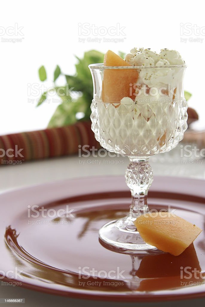 Cottage Cheese and Fruit royalty-free stock photo