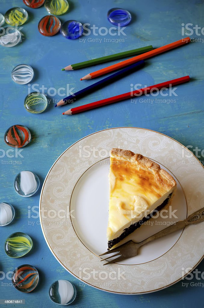 cottage cheese and poppy seed cake royalty-free stock photo