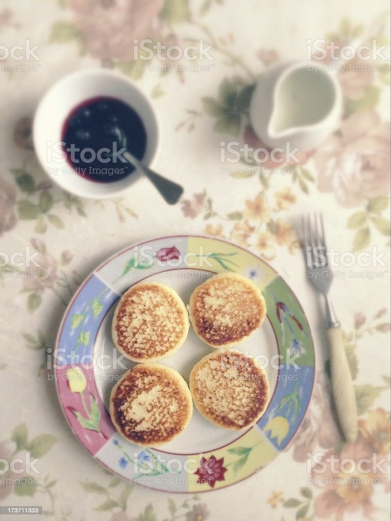 cottage cheese pancakes royalty-free stock photo