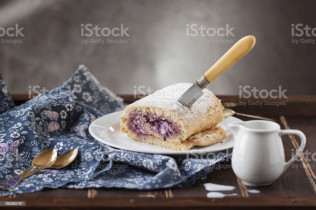 Cottage cheese strudel royalty-free stock photo