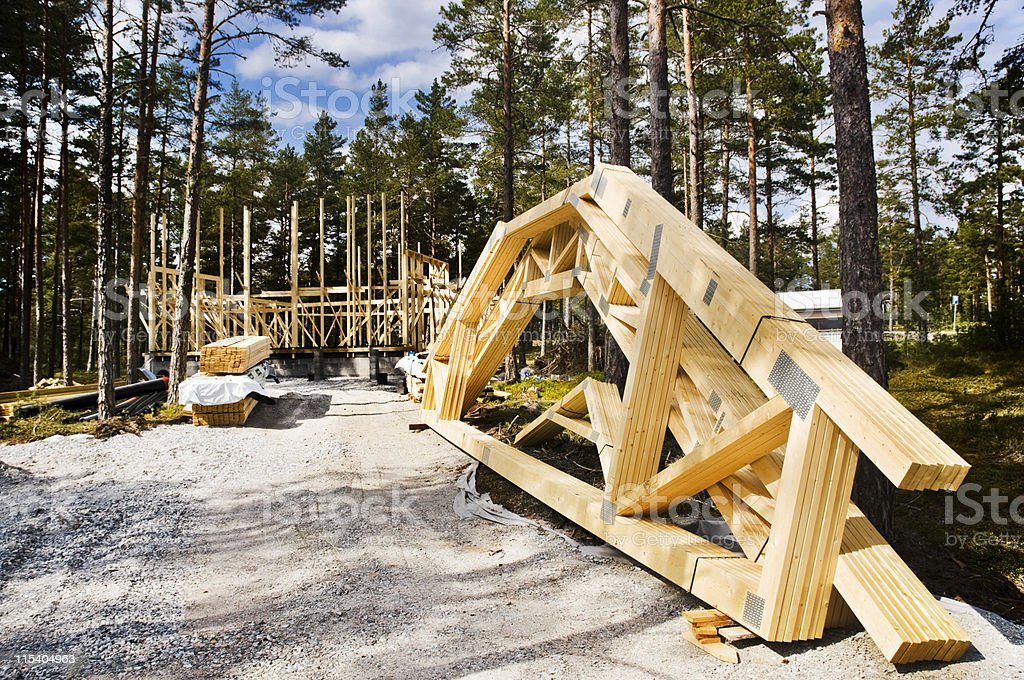 cottage construction royalty-free stock photo