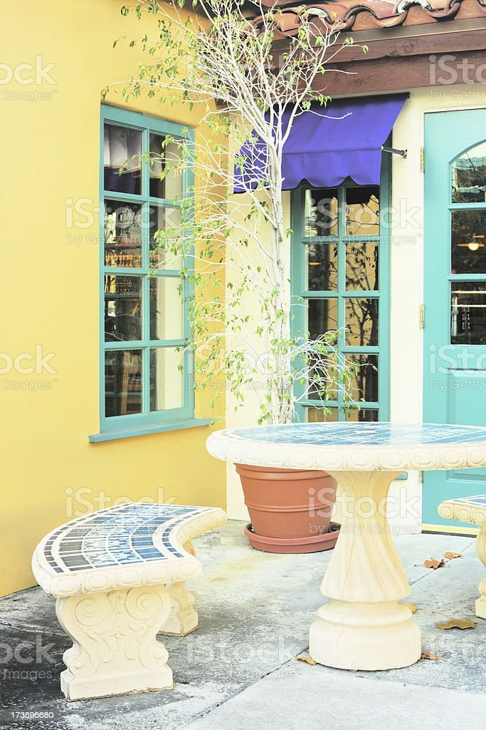 Cottage Courtyard Patio Stoop royalty-free stock photo