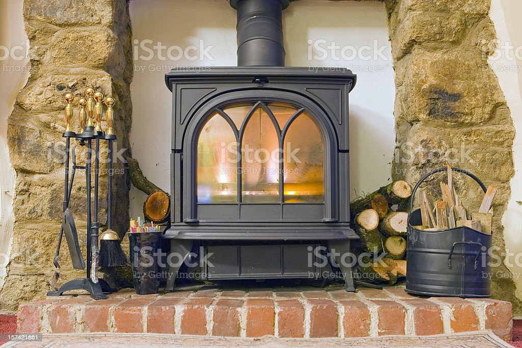 Cottage Fire stock photo