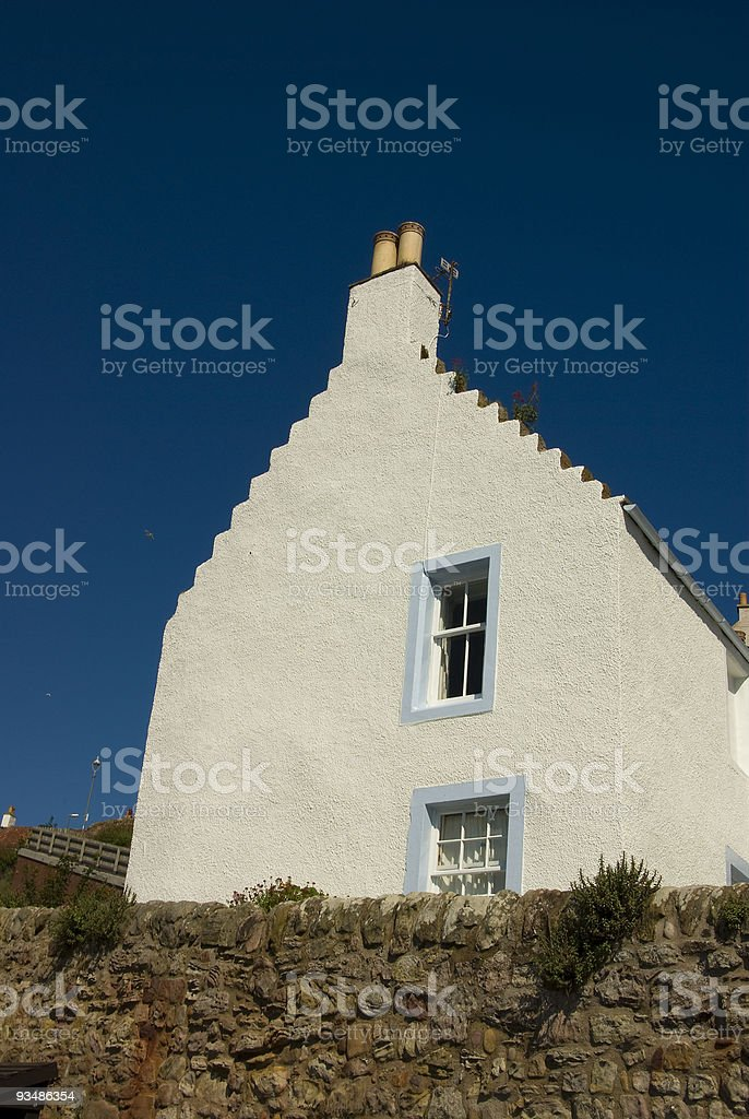 Cottage gable end stock photo