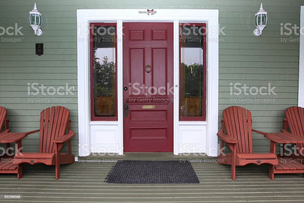 Cottage in Nova Scotia stock photo